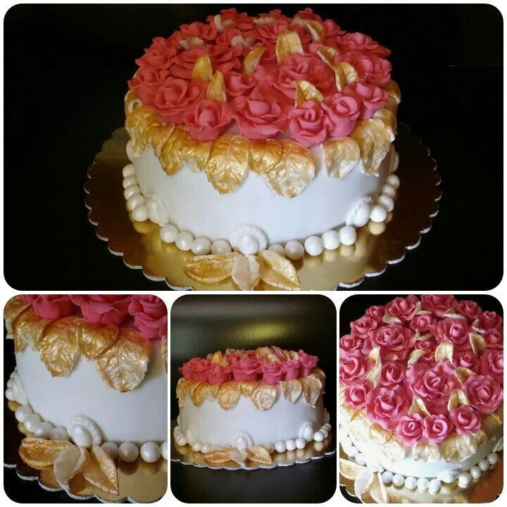 Virágos torta hölgyeknek