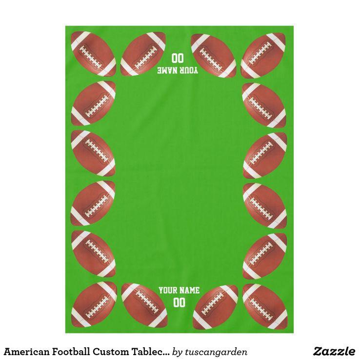 American Football Custom Tablecloth