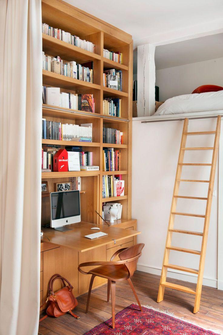 1000 images about mezzanine et estrade on pinterest tel for Bureau sous lit mezzanine