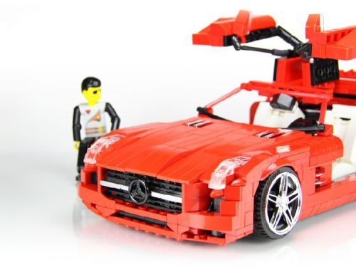 lego mercedes benz sls amg coupe lego creations. Black Bedroom Furniture Sets. Home Design Ideas