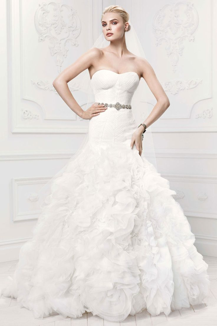 Zac Posen Wedding Dresses for David's Bridal. To see more: http://www.modwedding.com/2014/07/08/zac-posen-wedding-dresses-davids-bridal/ #wedding #weddings #wedding_dress