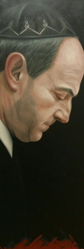 'Job Cohen' (The mayor of Amsterdam from 2000 untill 2010 - good leader, kind person), painted by: Ans Markus - Oil painting