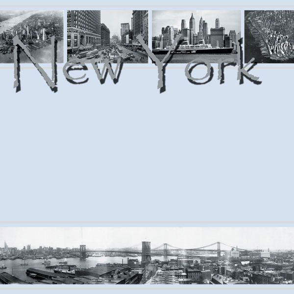 Scrapbook Customs - United States Collection - New York - 12 x 12 Paper - Old New York at Scrapbook.com $0.81