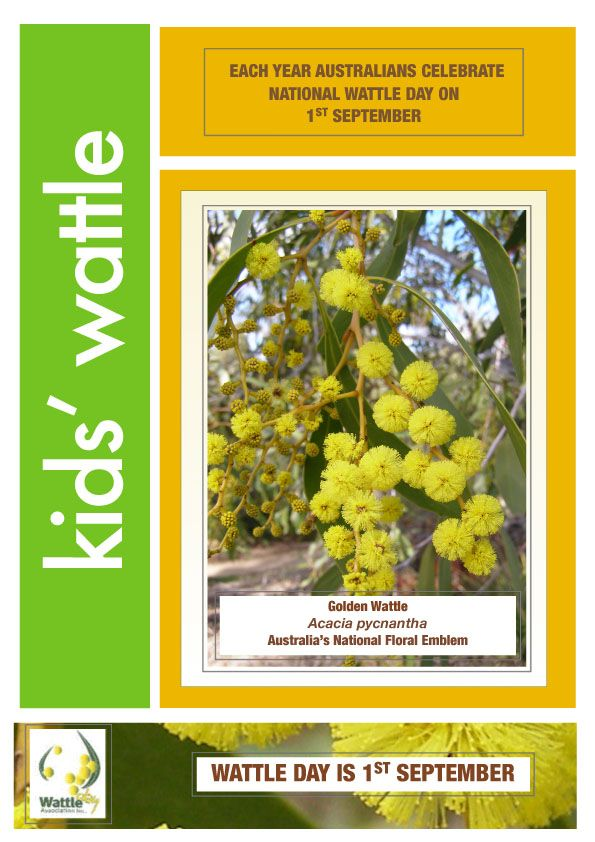 Ideas for National Wattle Day
