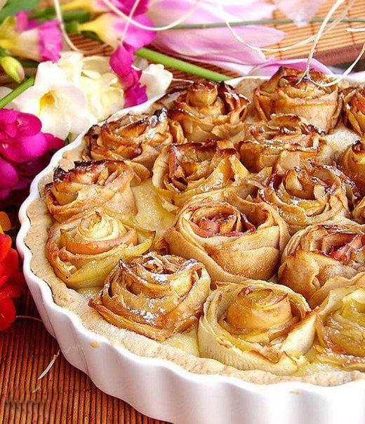 apple desserts recipes apple rose pie baking idea