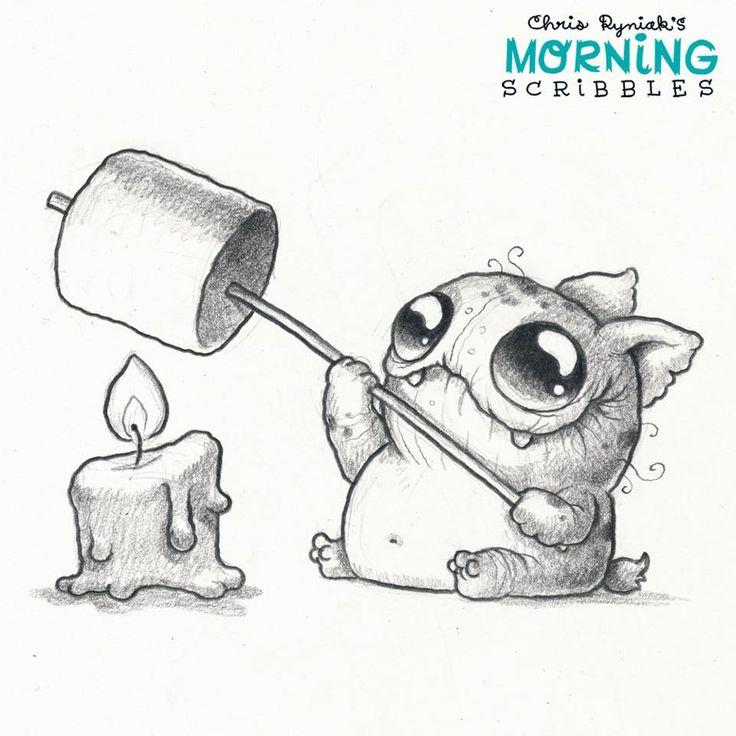 Scribble Monster Drawing : Chris ryniak morning scribbles cute pinterest
