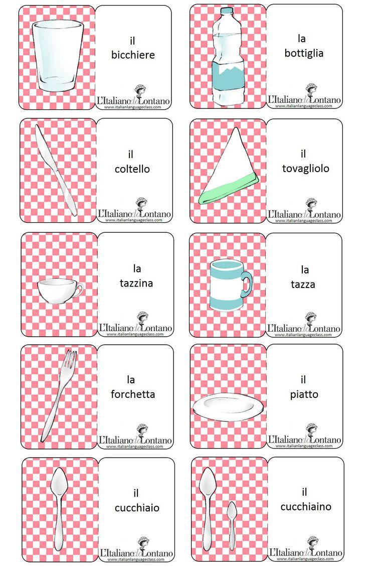 Tableware #italianlanguage #italianlesson #linguaitaliana