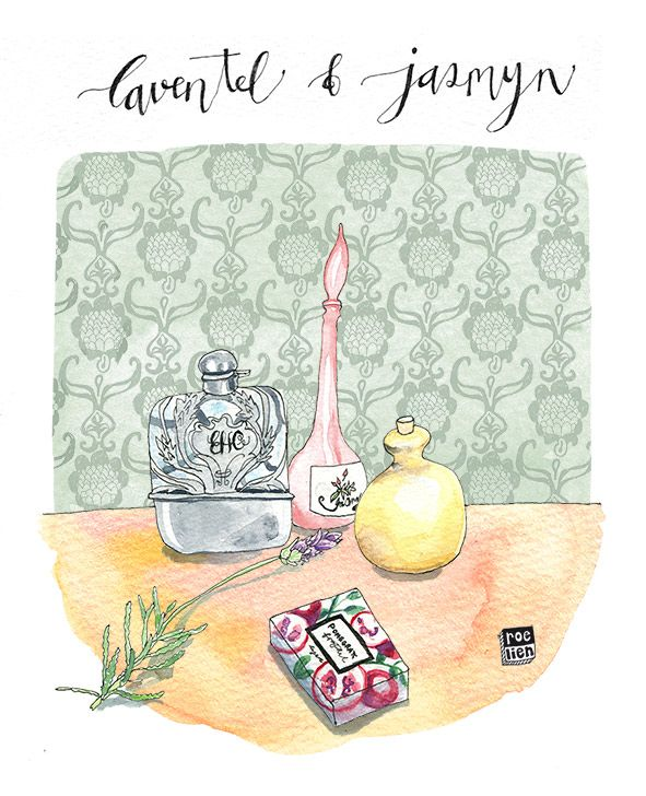 Editorial illustration, aromatics, bathtime