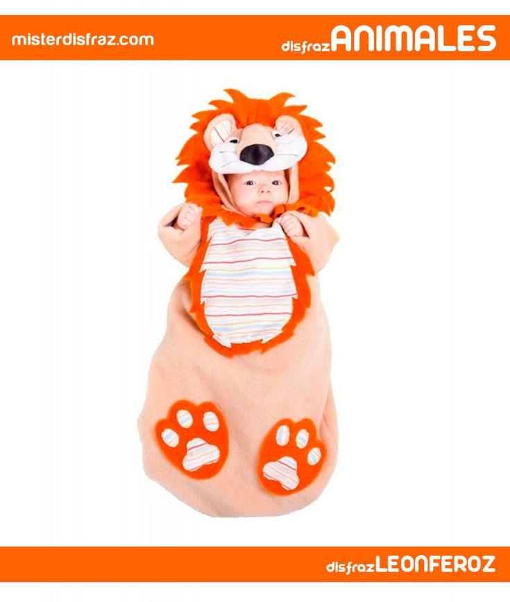 Disfraz de Saquito León Feroz para Bebé Hasta 6 Meses. Con este disfraz de León Feroz sus llantos se convertirán en grandes rugidos en Carnavales, Fiestas Temáticas o Cumpleaños. Un disfraz para que el Bebé esté muy calentito y vaya perfectamente disfrazado. #disfrazdeanimal #disfrazesdeanimales #disfraz #animal #disfrazbebe #bebe #saquito #leonferoz #leon #feroz #6meses