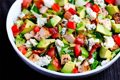 Delicious and easy Chicken Bacon Avocado Salad recipe for diabetics