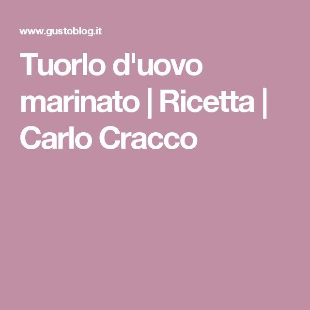 Tuorlo d'uovo marinato | Ricetta | Carlo Cracco