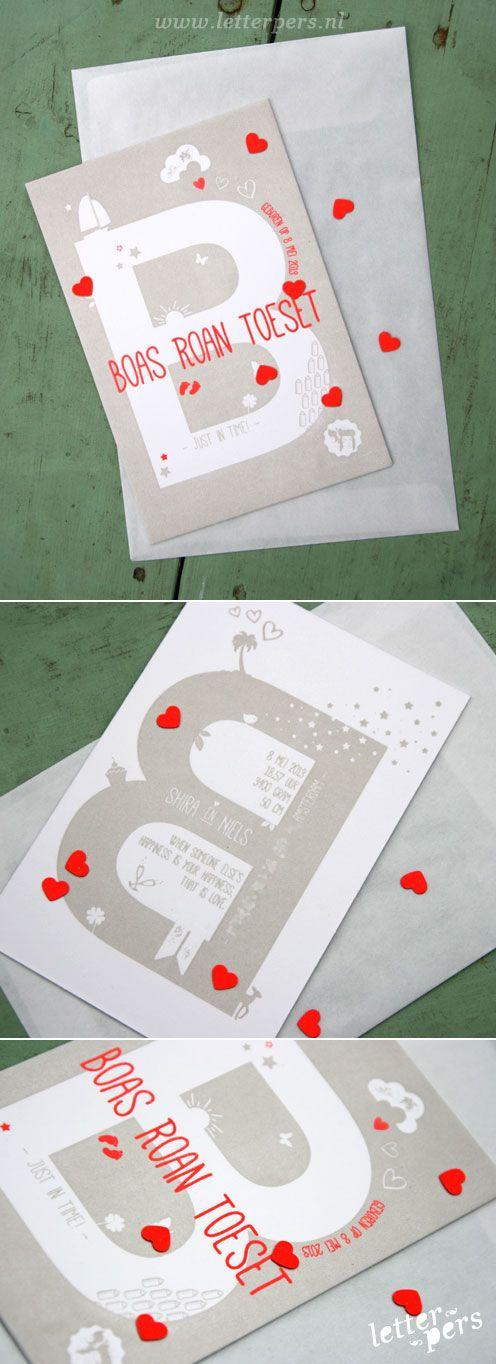 letterpers_letterpress_Boas_geboortekaartje_illustraties_confetti_hartjes_favoriet_mooi