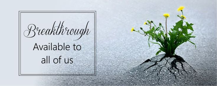 Breakthrough available for all of us