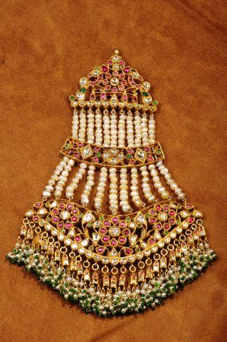 Golecha Jhoomar with Rubies and emeralds and diamonds
