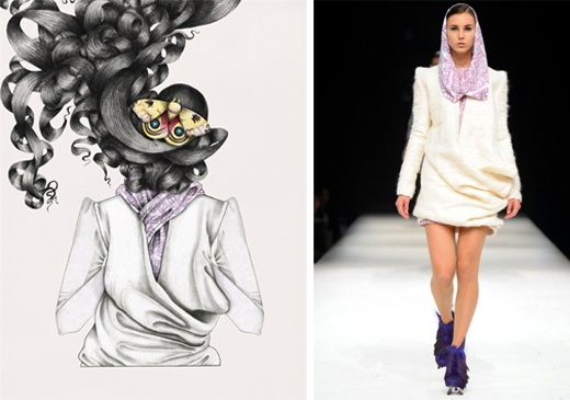 Illustration by Tara Dougans, silhouette from ULTRA'11 collection