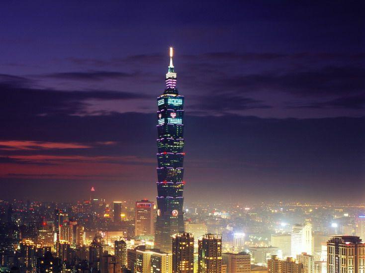 Taipei 101, anciennement connu sous le nom de Centre financier mondial de Taipei, Taipei.