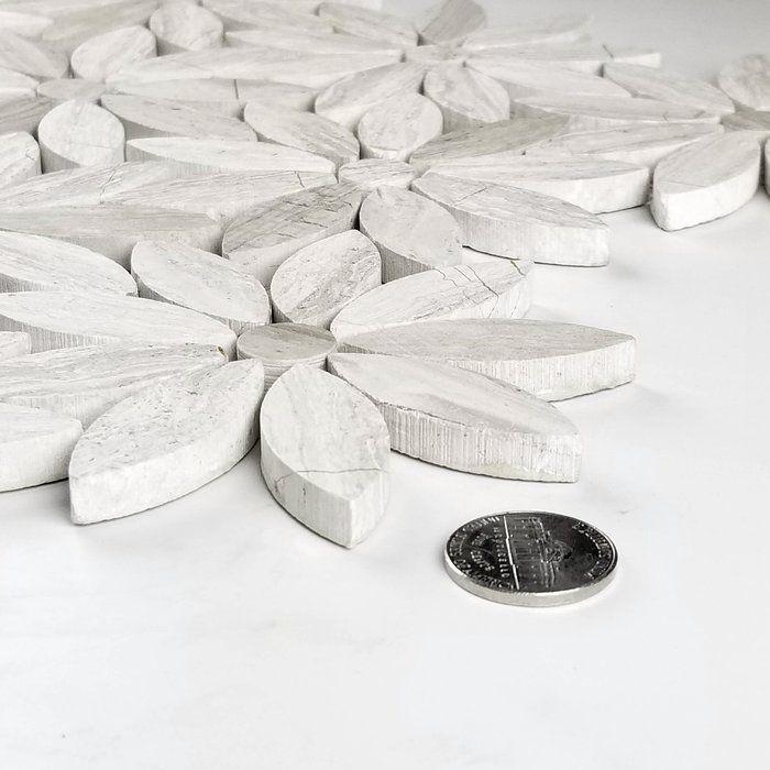 Abolos 12 X 12 Marble Mosaic Wall Floor Tile Marble Mosaic Marble Mosaic Tiles Mosaic Wall