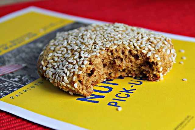 Boston Marathon Cookies by joanne-eatswellwithothers: More cake-like than cookie, they are delicious pillows of cinnamony sweetness that are chock full of good wholesome ingredients. Like great northern beans. And dates. And olive oil. #Cookies #Marathon #Healthy