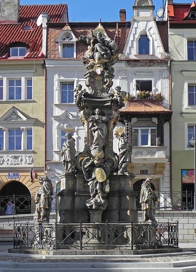 Bystrzyca Kłodzka, Plac Wolności, Kolumna św. Trójcy -