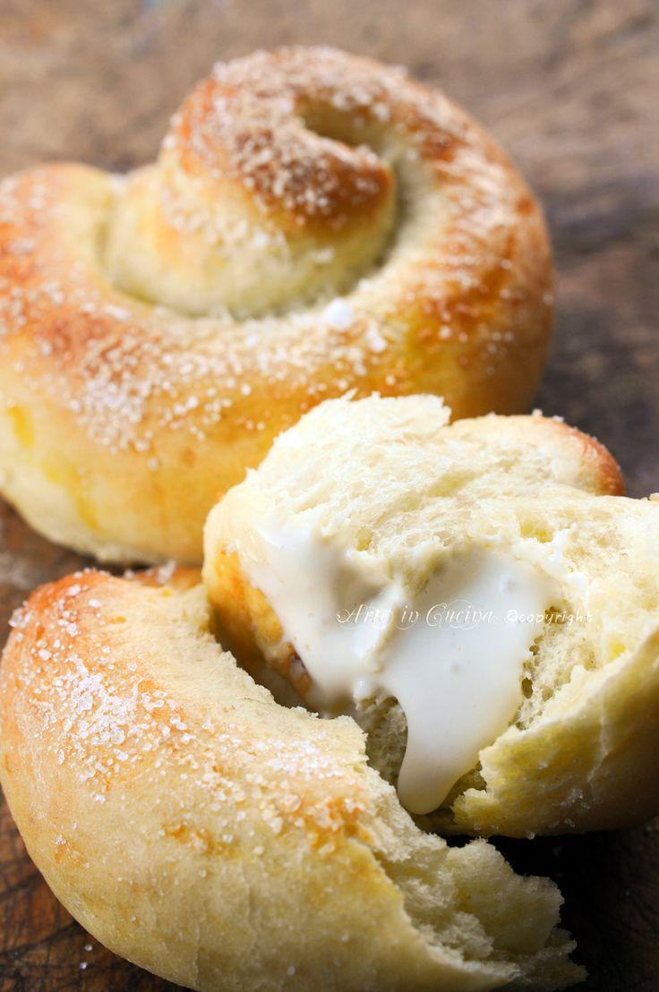 Girelle di pan brioche con crema al caffe vickyart arte in cucina