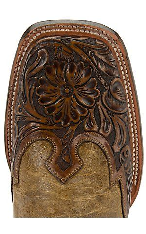 Kevin wants these     Stetson® Mens Colton Maddog with Tan Brown Tooled Wingtip Square Toe Western Boots | Cavender's Boot City