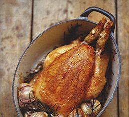 Pollo al Rosmarino e Aglio - Antonio Carluccio - Pollo al Rosmarino e Aglio Chicken Baked with Rosemary and Garlic