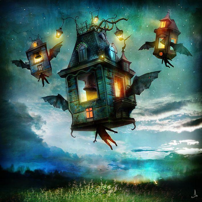 Alexander Jansson, Bats in the Belfry, Digital Mixed Media