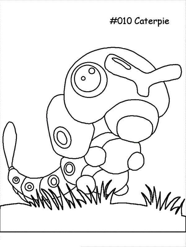 Caterpillars Caterpie The Pokemon Caterpillar Coloring Page Coloring Pages Pokemon Coloring Books
