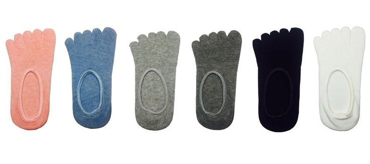 New Women Cotton Silicon Toe Fake Socks Boat Socks 6 Pairs Set #MIRINE