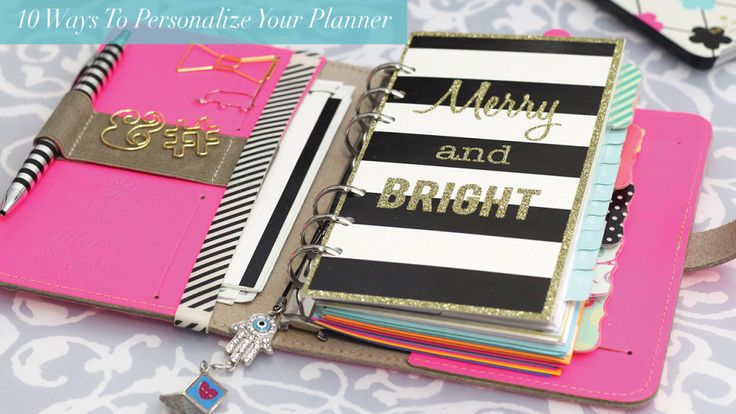 10 Ways to Personalize Your Planner #filofax