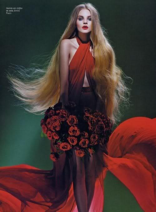 red Emilio Pucci dress