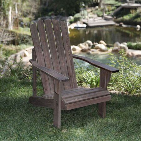 Lakewood Rustic Adirondack Chair - Rustic Wine, Red
