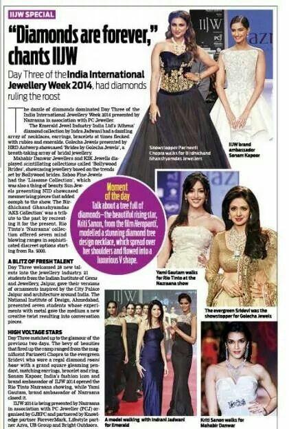 Magazine editorial of Bollywood brides collection of Mahabir Danwar Jewellers kolkata