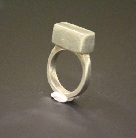 gümüş iri prizma yüzük - silver ring