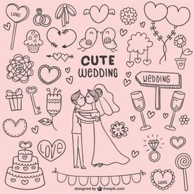 love doodles weddings - Google Search