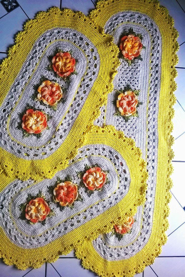 39 best images about tapetes de crochet on pinterest for Tapetes de crochet