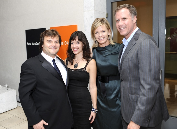 Jack Black and Tanya Haden with Viveca Paulin Ferrell and Will Ferrell. Photo by Stefanie Keenan.