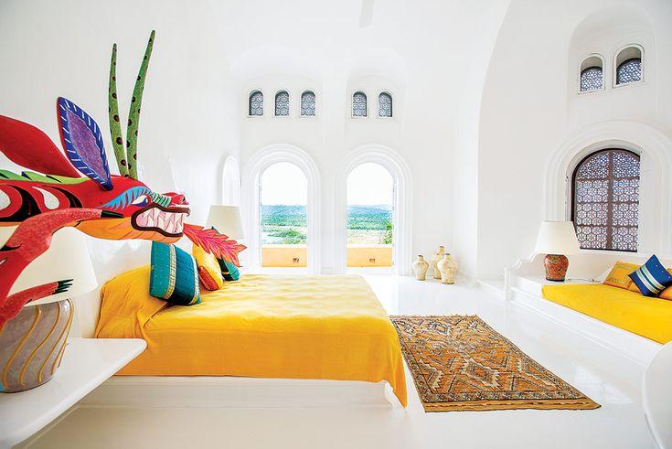 Arte y color fueron la guía de la decoración en las habitaciones.