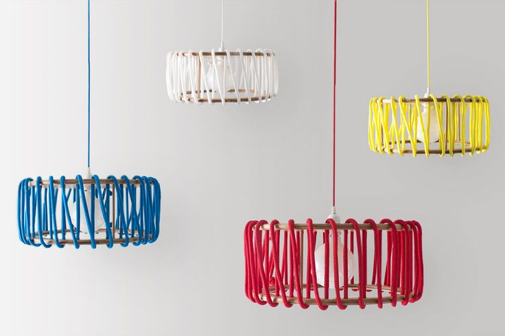 Inspired by the candy-colored, sugary French confection known as macarons, Spanish designer Silvia Ceñal designed a colorful, modern lamp.