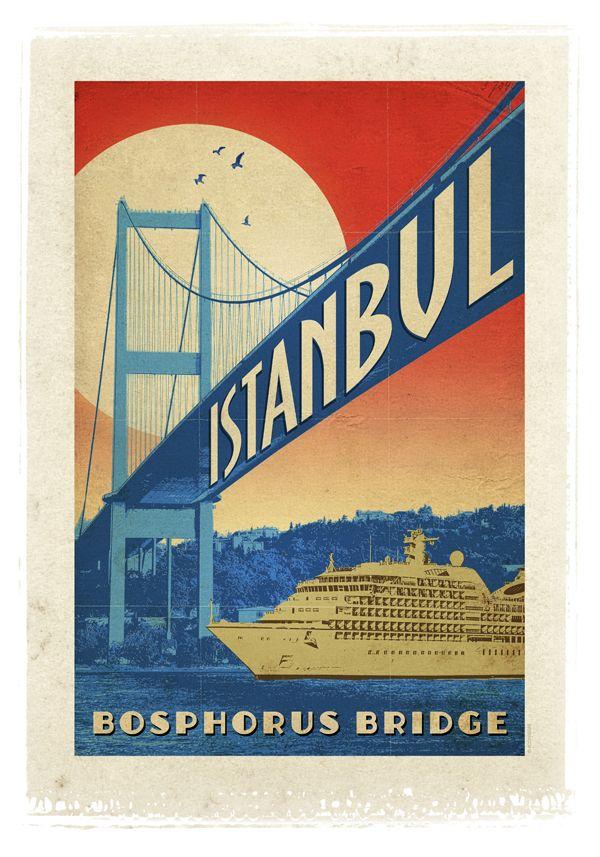Bosphorus Bridge - Istanbul poster http://www.turkiyeposterleri.com/