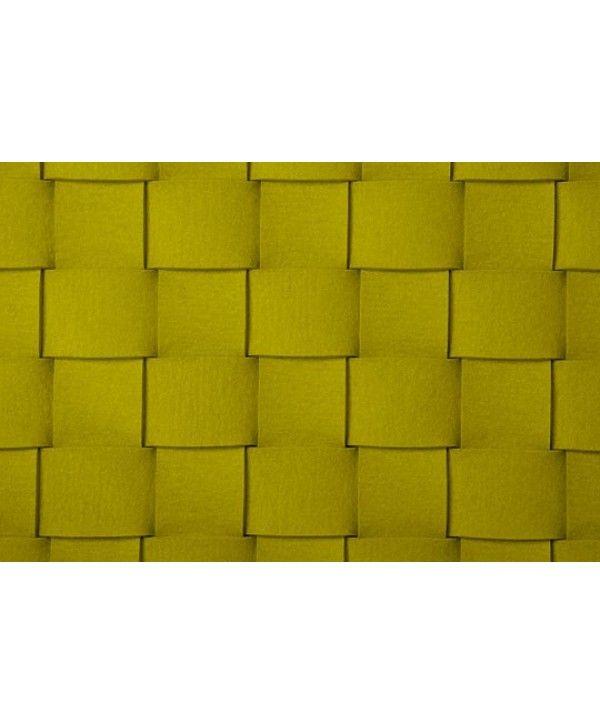 WOVEN 5  Vloerkleed rug van 5cm gevlochten stroken wol vilt detail