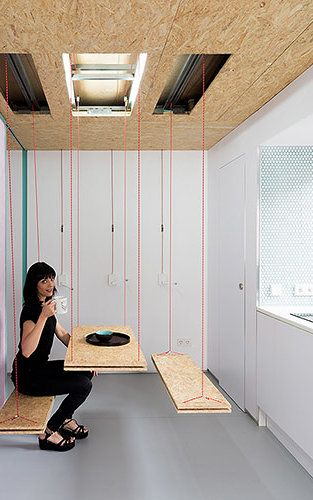 6 | This Transformable Microapartment Has Secret Trap Doors Everywhere |  Co.Exist | Ideas