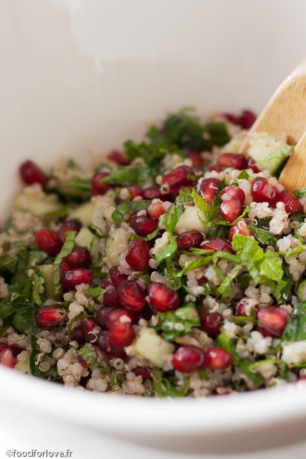 Taboulé de Quinoa à la Menthe et à la Grenade - Food for Love
