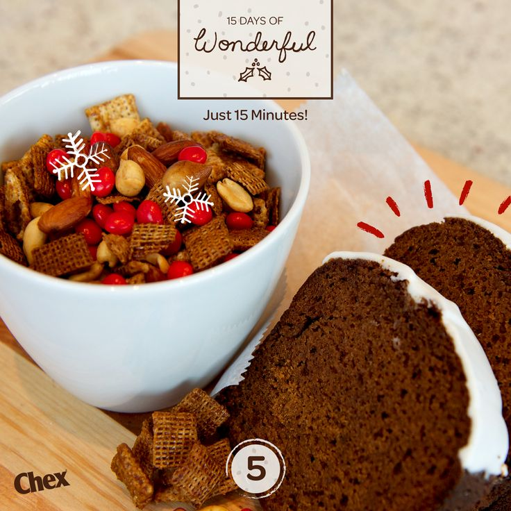 On the fifth Day of Wonderful, our favorite holiday cookies become an easy Gingerbread Chex Mix recipe. Spicy!