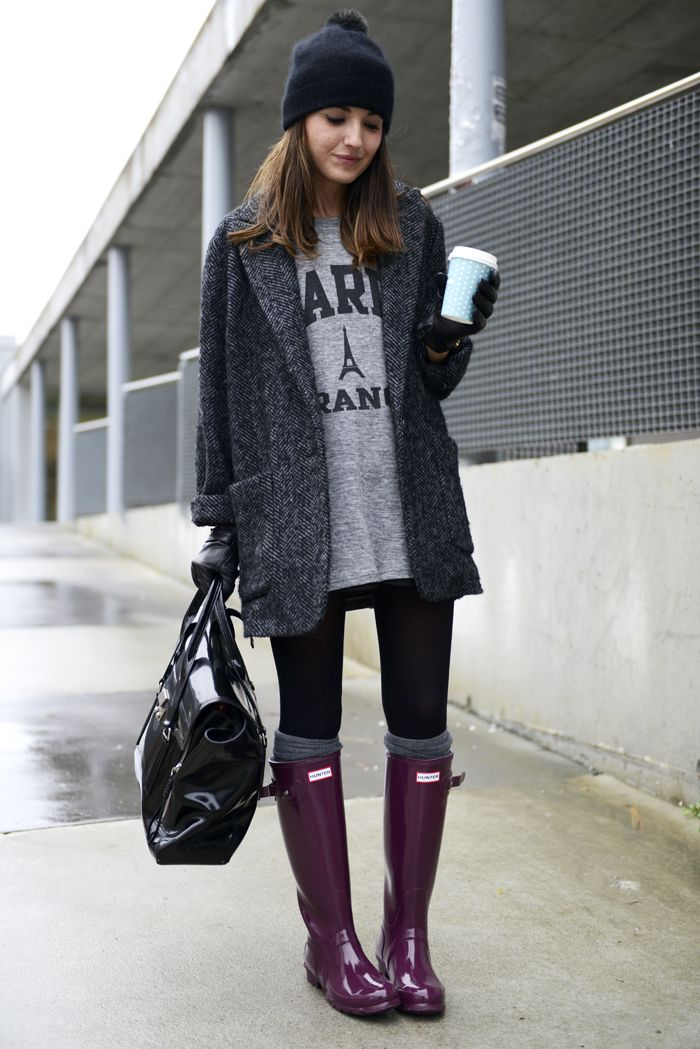 Red Outfits Burgundy And Hunter Boots On Pinterest