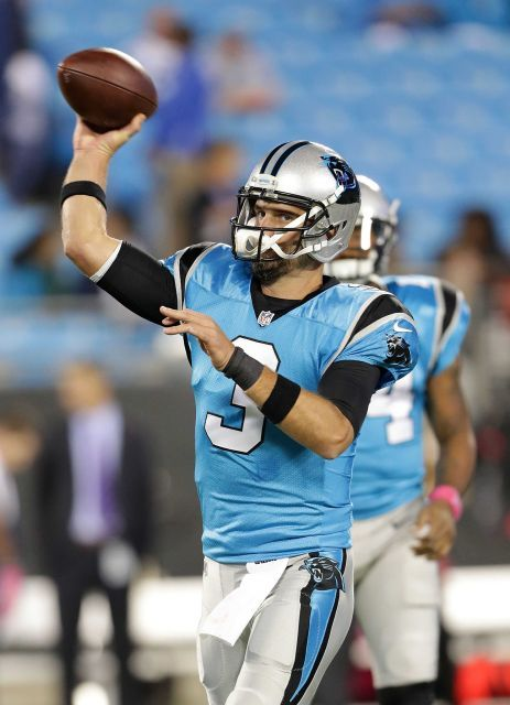 Monday Night Football: Buccaneers vs. Panthers:     October 10, 2016, 17-14, Buccaneers  -       Derek Anderson of the Carolina Panthers warms up ahead of their game against the Tampa Bay Buccaneers at Bank of America Stadium on Oct. 10, 2016 in Charlotte, N.C.