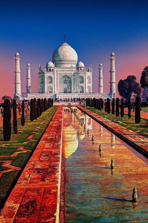 Taj Mahal, Agra, India.I would love to go see this place one day.Please check out my website thanks. www.photopix.co.nz