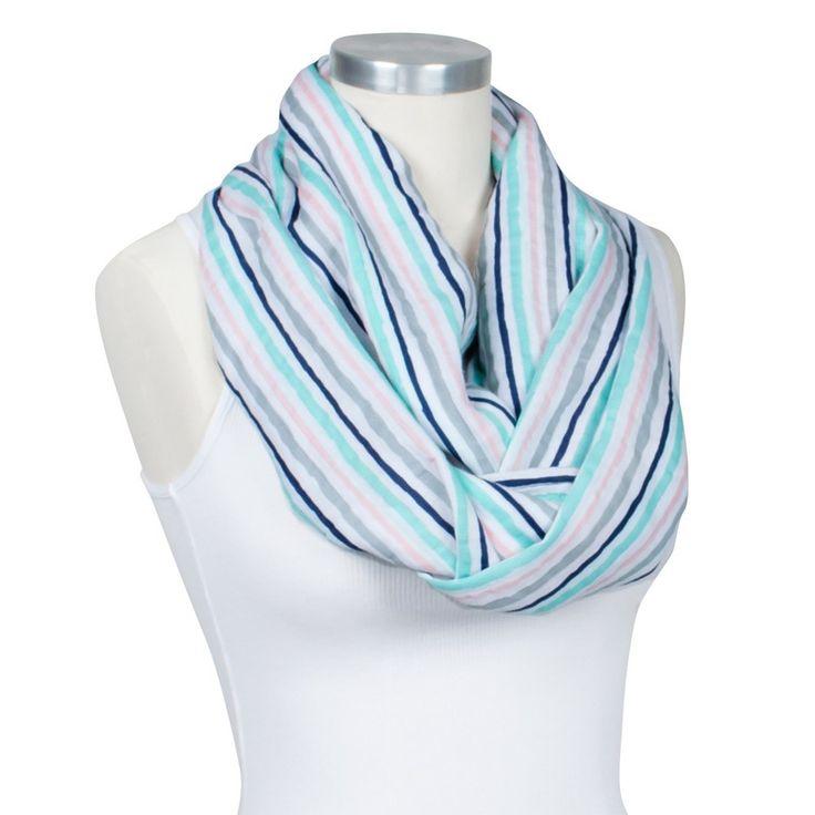 Bebe Au Lait Premium Muslin Nursing Scarf - Candy Stripes, White