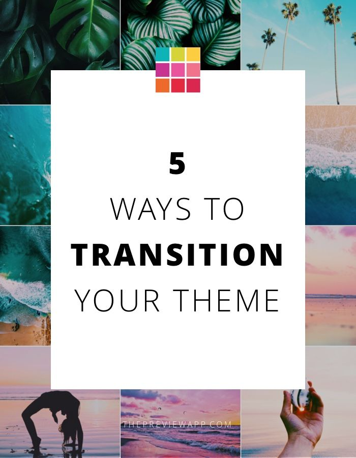 How to Transition your Instagram Theme | It's Not A Job If