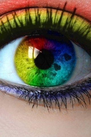 #colors #rainbow #eye